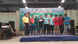 Lễ trao giải môn Kéo co nam.