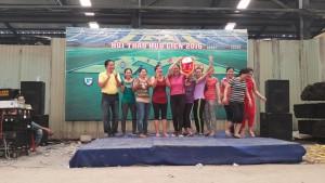 Lễ trao giải môn kéo co nữ.