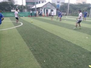 Trận đấu giữa Thành phẩm FC và Thép Hữu Liên